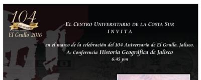 Nota: Presentación en el 104 aniversario de El Grullo, Jalisco