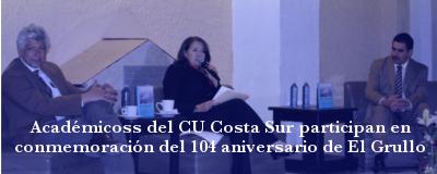 Participación del CU Costa Sur en el 104 Aniversario de El Grullo