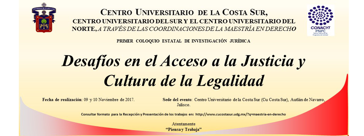 Banner: Coloquio Estatal de Investigación Jurídica