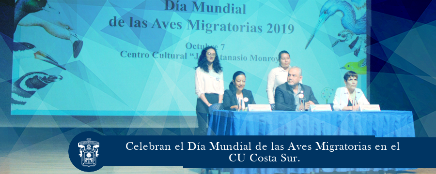 Celebran el Día Mundial de las Aves Migratorias en el CU Costa Sur