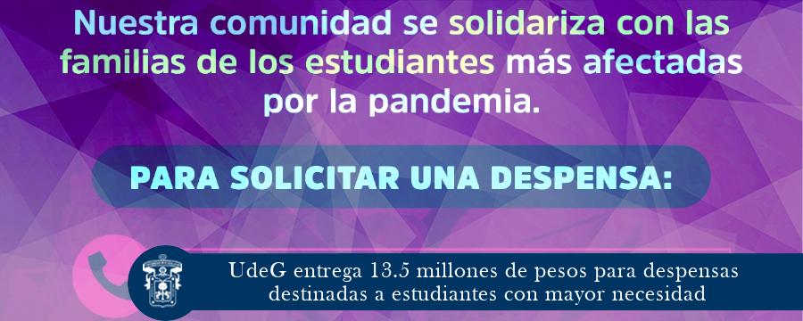 UdeG entrega 13.5 millones de pesos para despensas destinadas a estudiantes