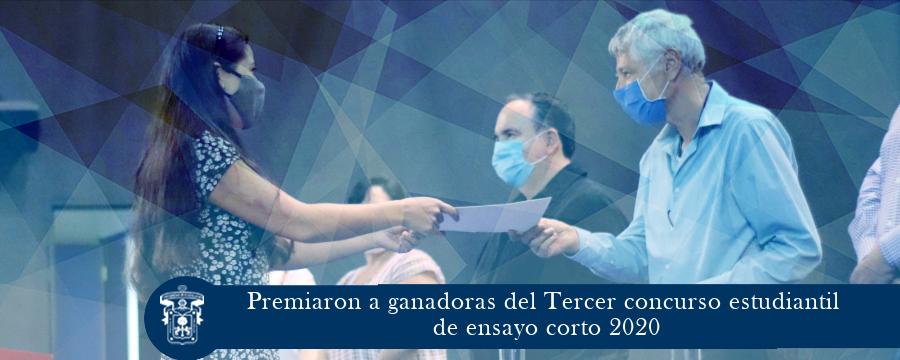 Premiaron a ganadoras del Tercer concurso estudiantil de ensayo corto 2020