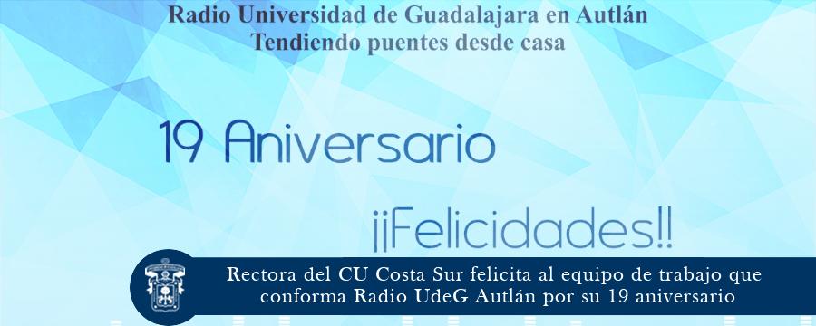 Radio UdeG Autlán cumple su 19 aniversario