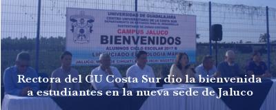 Banner: Bienvenida en sede Jaluco