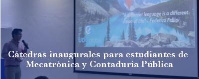 Banner: Cátedras Mecatrónica y Contaduría