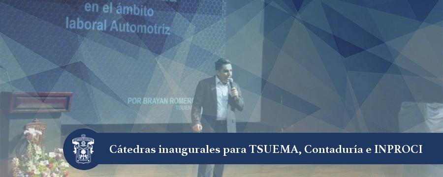 Banner: Cátedras TSUEMA, Contaduría e INPROCI
