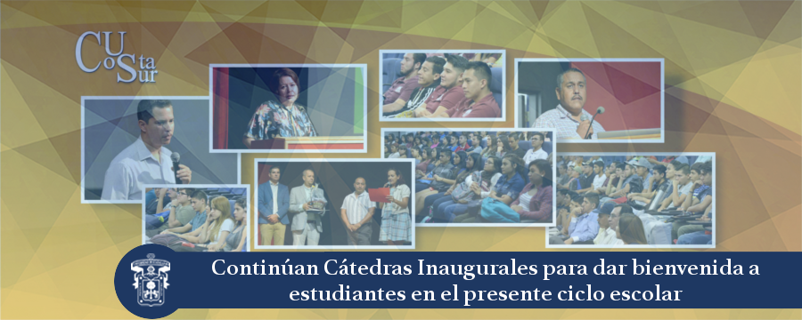 Banner: Cátedras inaugurales