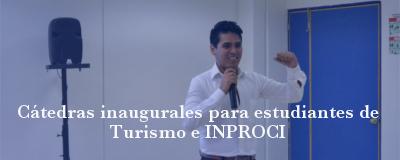 Banner: Cátedras Turismo e INPROCI