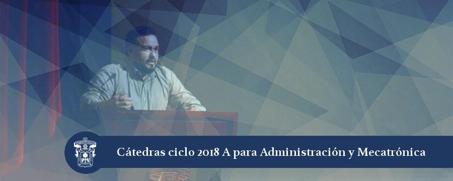 Banner: Cátedras Administración y Mecatrónica