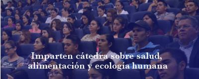 Banner: Cátedra sobre salud, alimentación y ecología humana