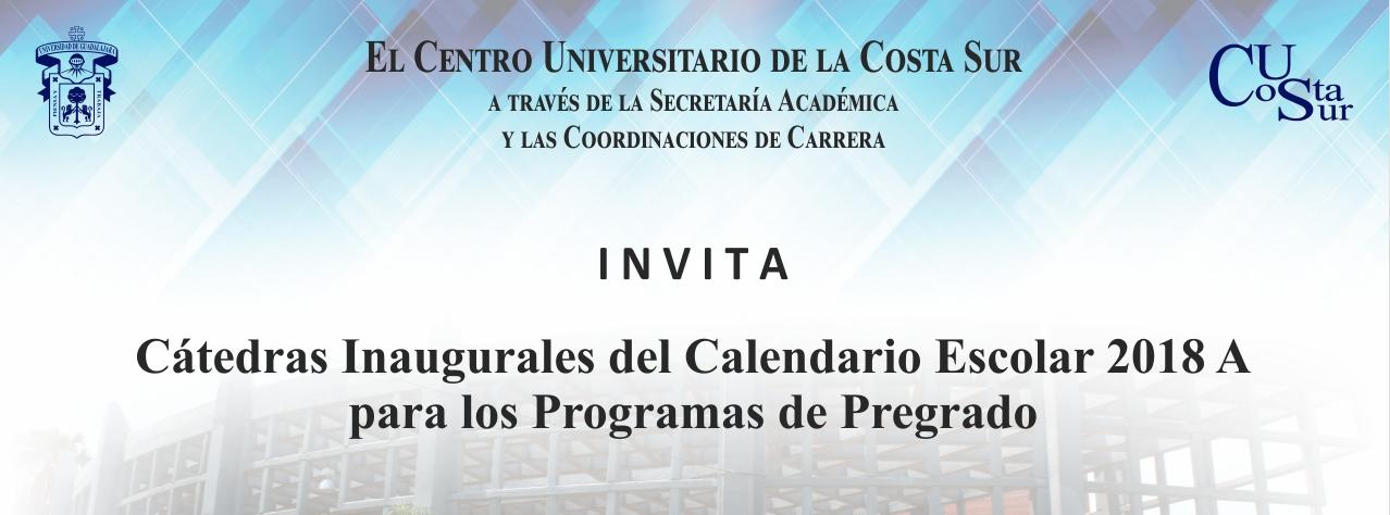 Banner: Cátedras inaugurales