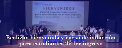 Banner: Bienvenida y curso de inducción para estudiantes de primer ingreso