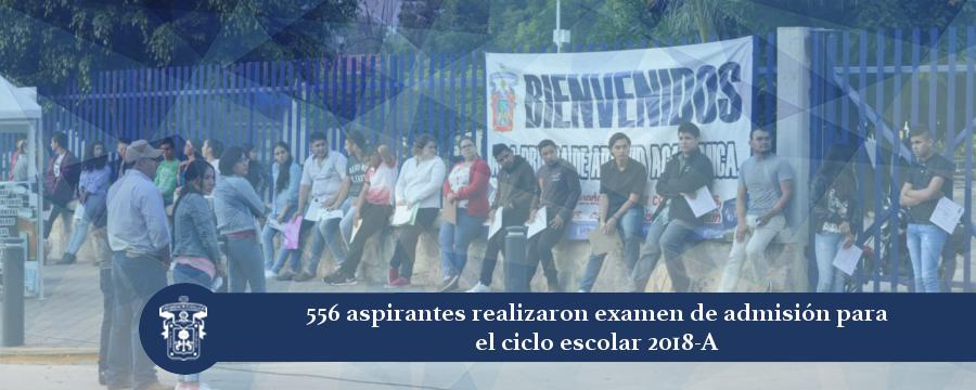 Banner: Examen de Admisión 2018-A