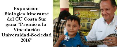 Banner: Exposición Biológica Itinerante gana premio de vinculación