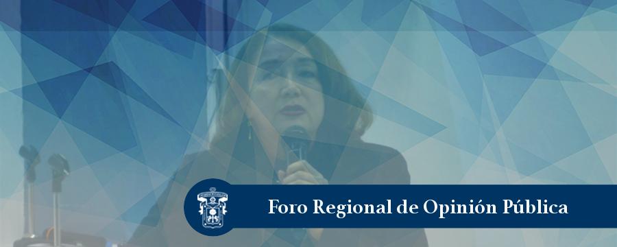 Banner: Foro Regional de Opinión Pública