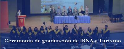 Banner: Graduación de IRNA y Turismo