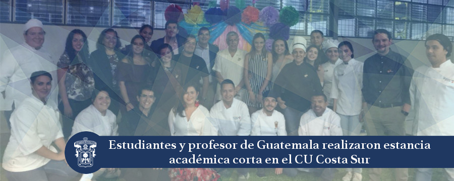 Banner: Visita estudiantes de Guatemala