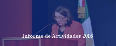 Banner: Informe de Actividades 2016