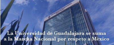 Banner: Marcha Nacional por respeto a México