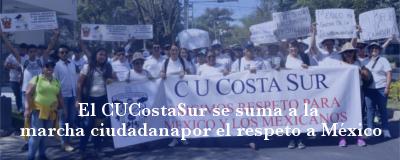 Banner: Marcha ciudadana por el respeto a México