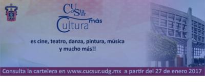 Banner: Más Cultura CU Costa Sur