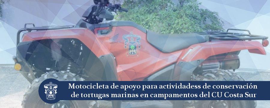Banner: Motocicleta de apoyo para la conservación de tortugas