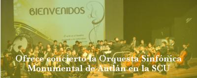 Ofrece concierto Orquesta Monumental de Autlán