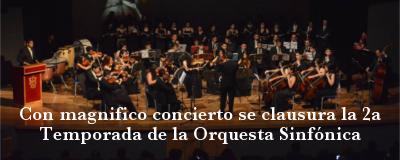 Banner: Cierre 2a temporada Orquesta Sinfónica