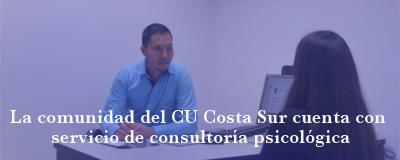 Banner: CU Costa Sur cuenta con consultoría psicológica