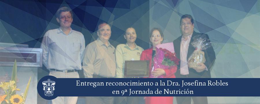 Banner: Reconocimiento a la Dra. Josefina Robles