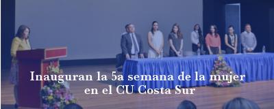 Banner: Inauguración Semana de la Mujer