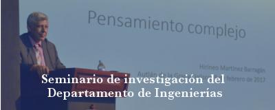 Banner: Seminario de investigación del Departamento de Ingenierías
