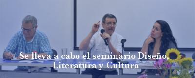 Banner: Seminario Diseño, Literatura y Cultura