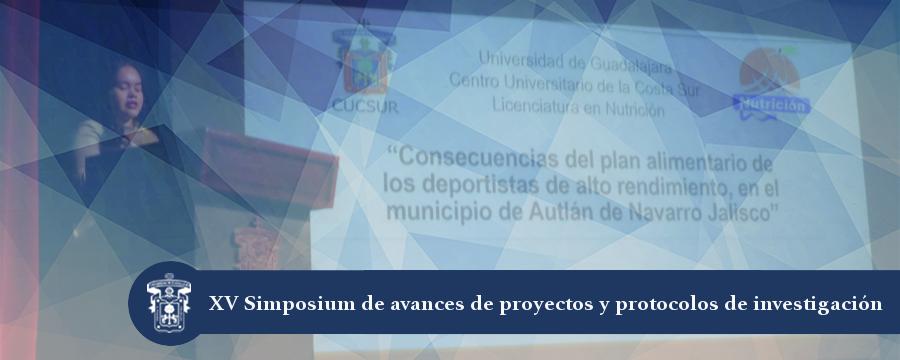 Banner: Simposium de avances de investigación