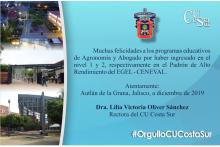 El programas educativos de CUCSUR logran Nivel 1 y 2 en CENEVAL