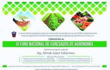 Nota: Foro Nacional de Egresados de Agronomía