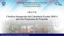 Nota: Cátedras inaugurales