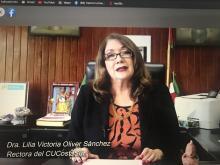 Rectora del CU Costa Sur dio la bienvenida a los alumnos en reunión informativa virtual