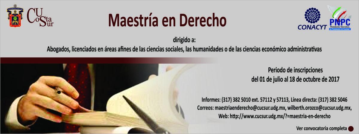 Banner: Maestría en Derecho